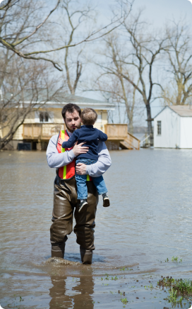 the weather channel man rescuing child